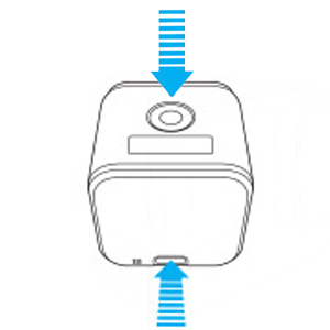 La GoPro Hero Session ha lo SHUTTER button SOPRA ed il MODE button sul RETRO in basso